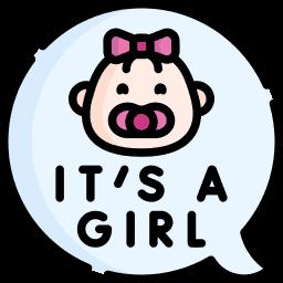 Baby Girl Birth Announcement Ideas Icon